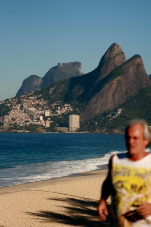 Morning jogger, Ipanema Beach