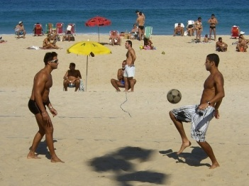 Footvolley, Ipanema Beach