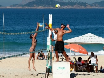 Volleyball, Ipanema Beach.