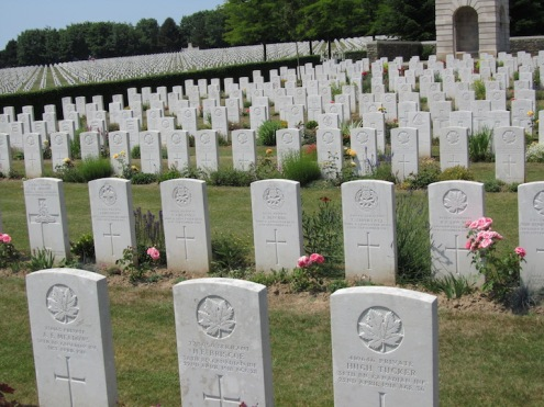 Canadian WW1 cemetery, Vimy Ridge, France.