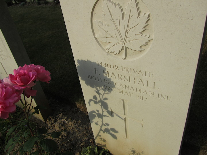WW1 headstone, northern France