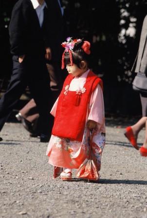 Participant in Shichi-Go-San festival