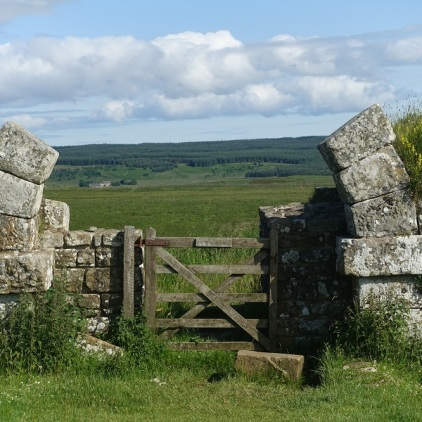 Homestead Milescastle with remnants of Roman arch