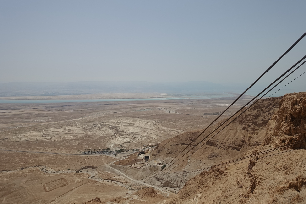 Gondola cables on Masada