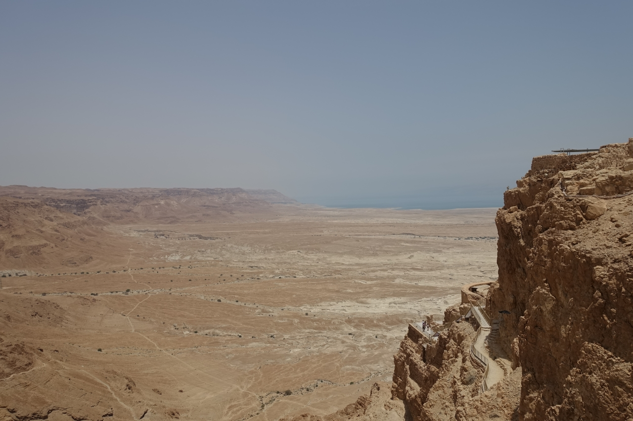 Masada overlooking Dead Sea
