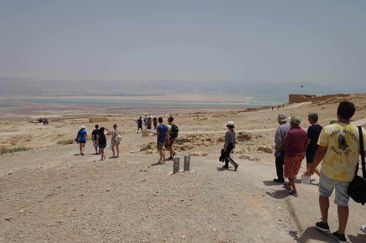 Masada's arid plateau.