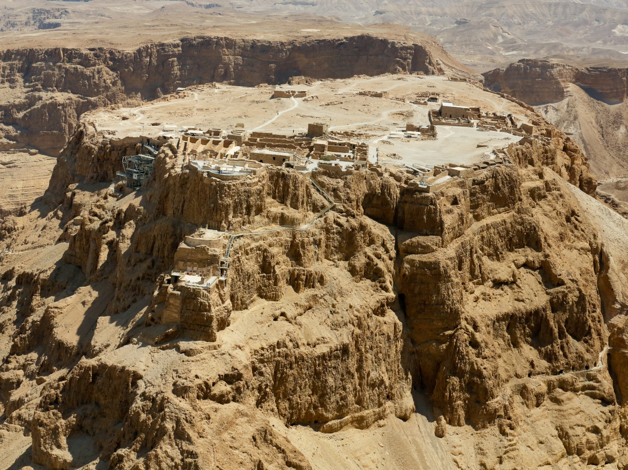 Aerial View of Masada Israel
